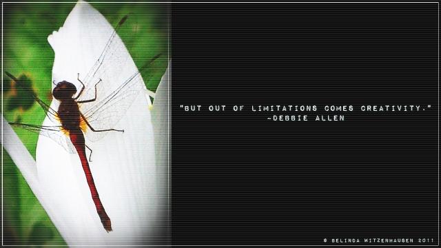 Dragonfly Wallpaper ~ Quote by Debbie Allen