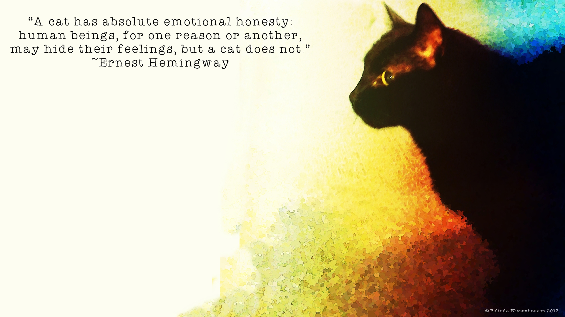 Ernest Hemingway quote Wallpaper