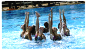 synchro swimmers