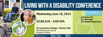Living with a Disability Conference Kingston June 18 2014
