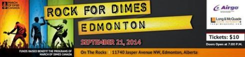 Rock for dimes Edmonton