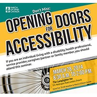 Opening door for Accessibility