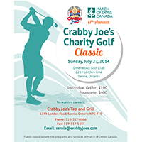 Crabby Joe's Charity Golf Classic July 27 2014