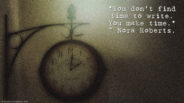 Photo~Make time to write.