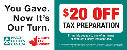 Liberty Tax Service MODC Coupon 2018