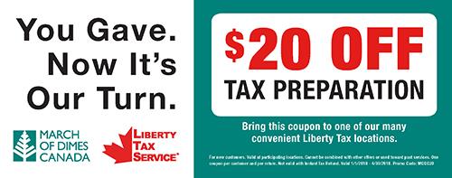 Liberty Tax Service MODC Coupon 2018